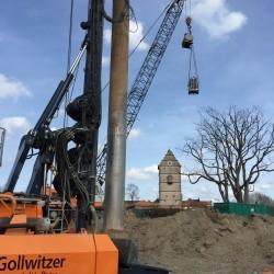 Großbaustelle Stadthalle: Der Spezialtiefbau beginnt
